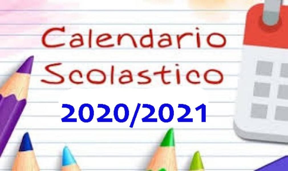 Calendario scolastico A.S. 2020-2021