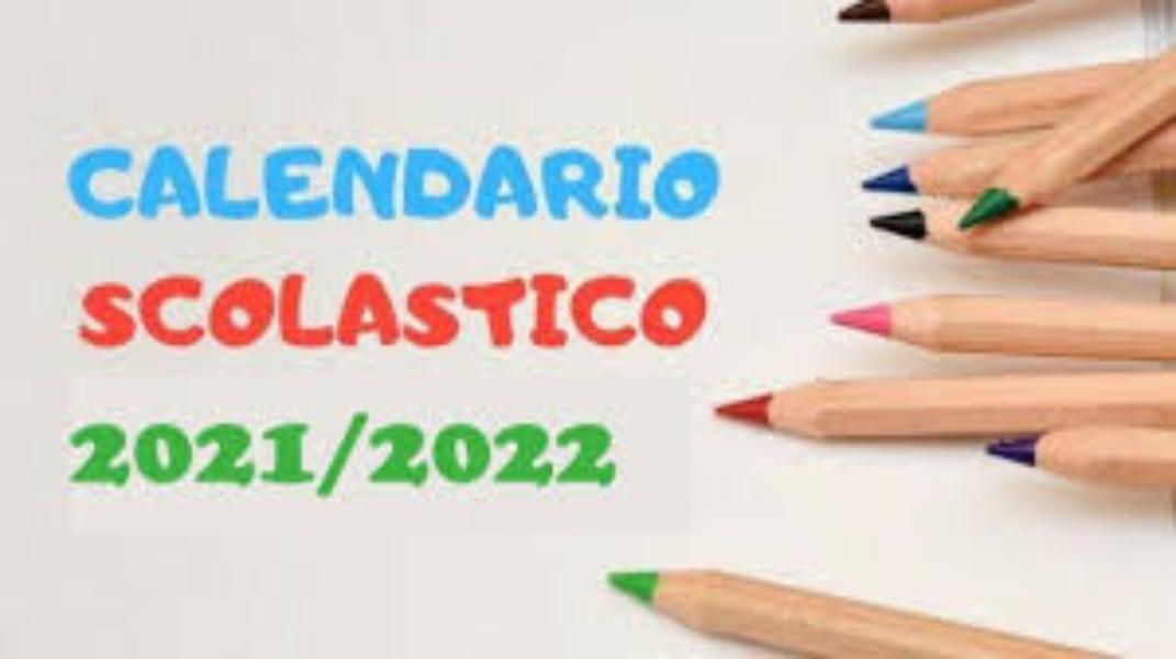 Calendario scolastico A.S. 2021-2022
